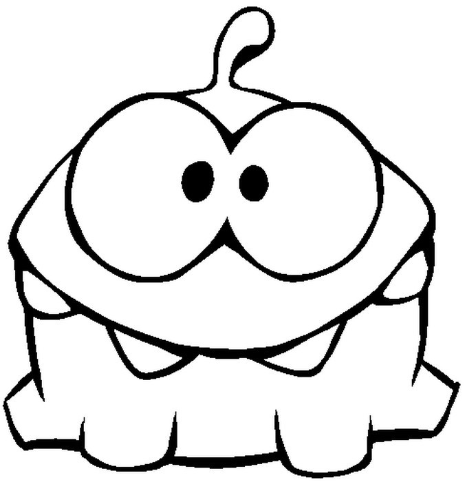 Coloring Pages Cut The Rope Drawing