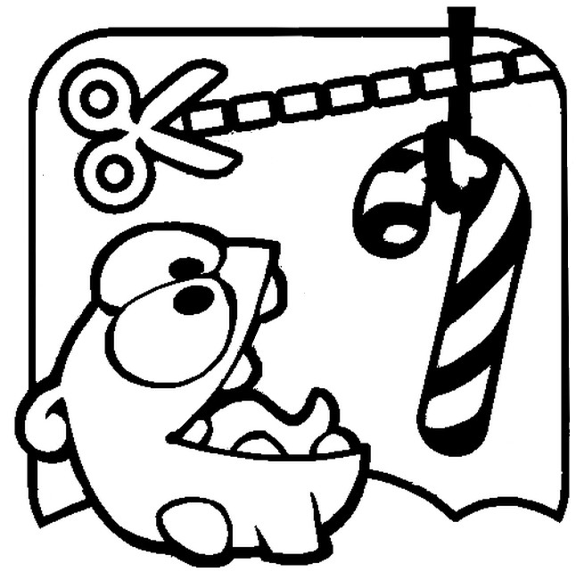 Coloring Pages Cut The Rope