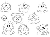 Disegno da colorare Cut the Rope