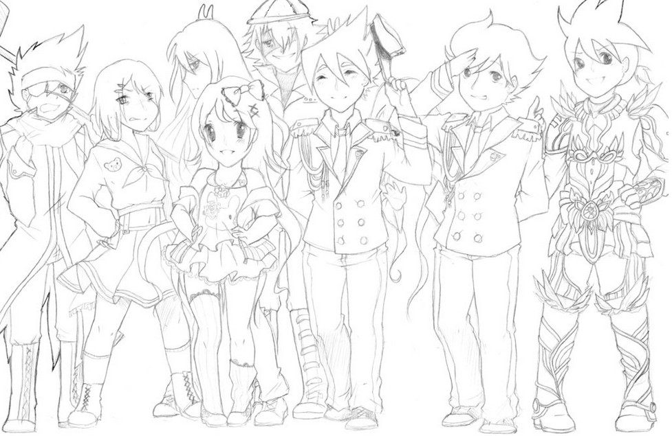 Coloring page Tenkai Knights 4
