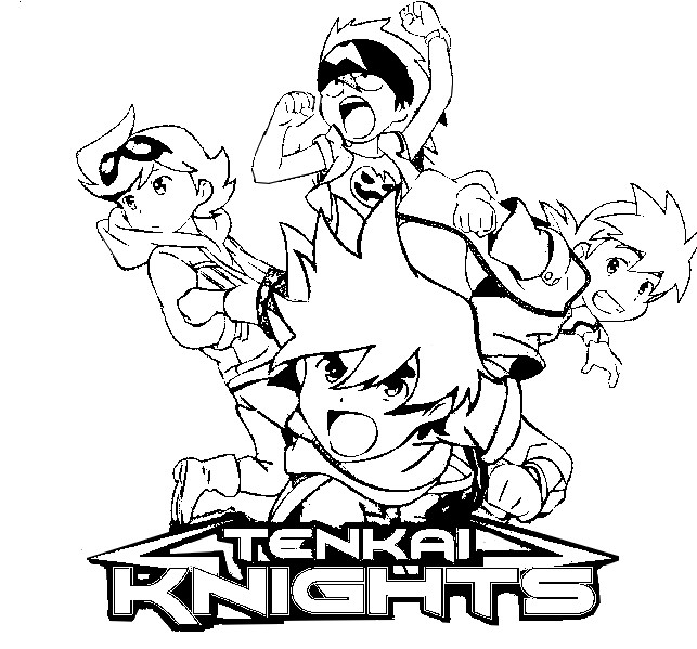 Coloring page Tenkai Knights : Tenkai Knights 6