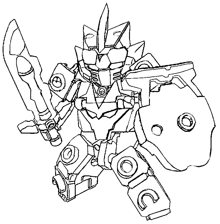 Coloring page Tenkai Knights : Bravenwolf 8