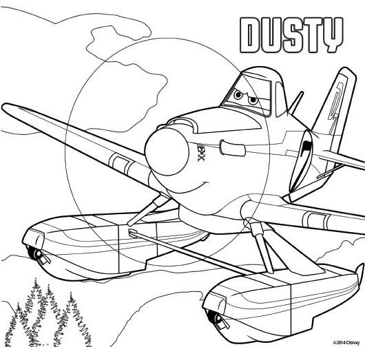 Desenho Para Colorir Avioes 2 Herois Do Fogo Ao Resgate Dusty 1