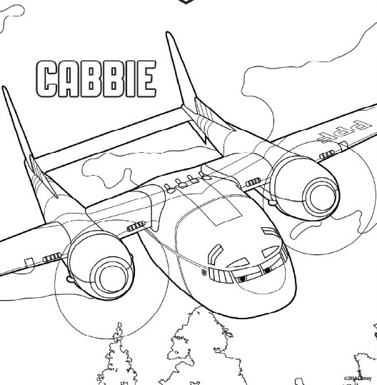 coloring page planes 2 fire and rescue cabbie