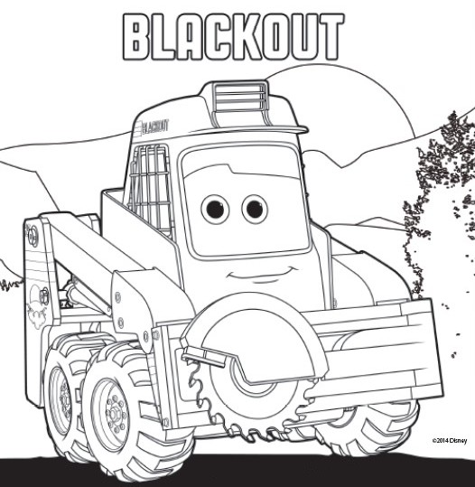 Coloring page Planes 2 Fire and Rescue : Blackout 9