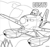 Coloring page Dusty