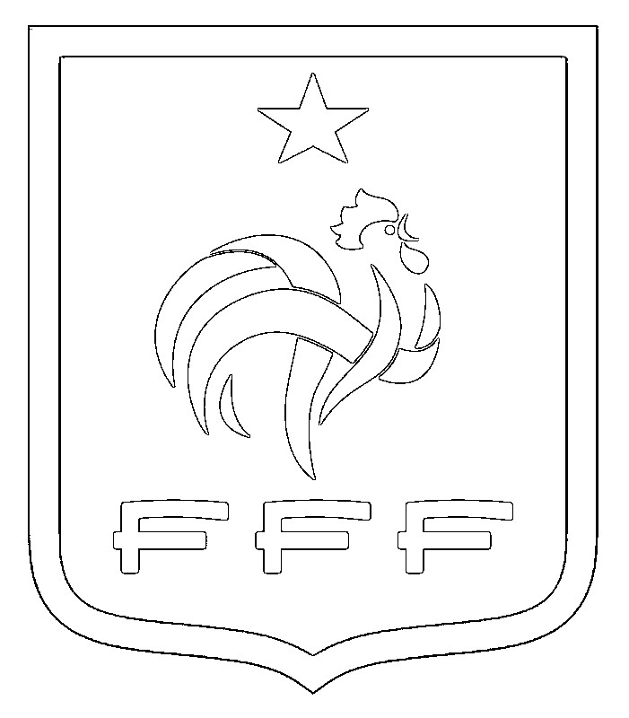 Coloring page French national soccer team 1