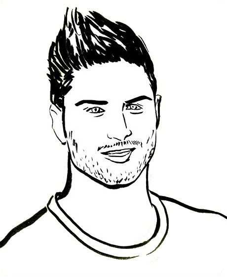 coloring page national soccer team olivier giroud 1