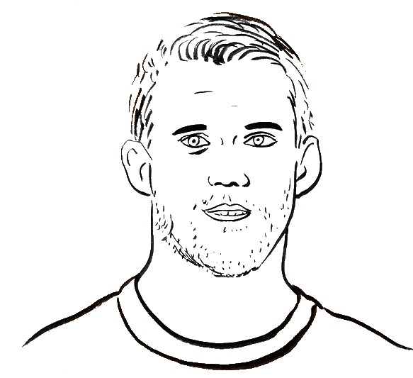 coloring page national soccer team 1