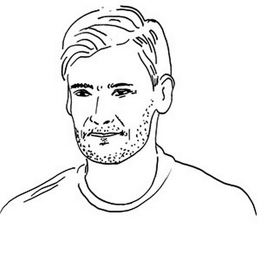 Coloring Page French National Soccer Team Hugo Lloris 1