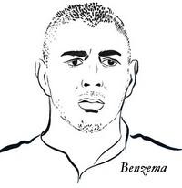 Disegno da colorare Karim Benzema