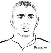 Kleurplaat Karim Benzema