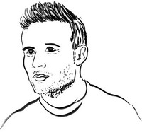 Dibujo para colorear Yohan Cabaye