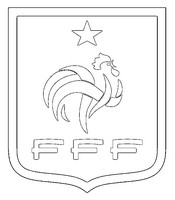 Disegno da colorare Squadra di calcio francese