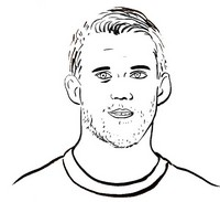 Coloring page French national soccer team