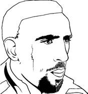Kleurplaat Franck Ribery