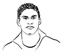 Dibujo para colorear Raphaël Varane