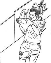Dibujo para colorear Zinédine Zidane