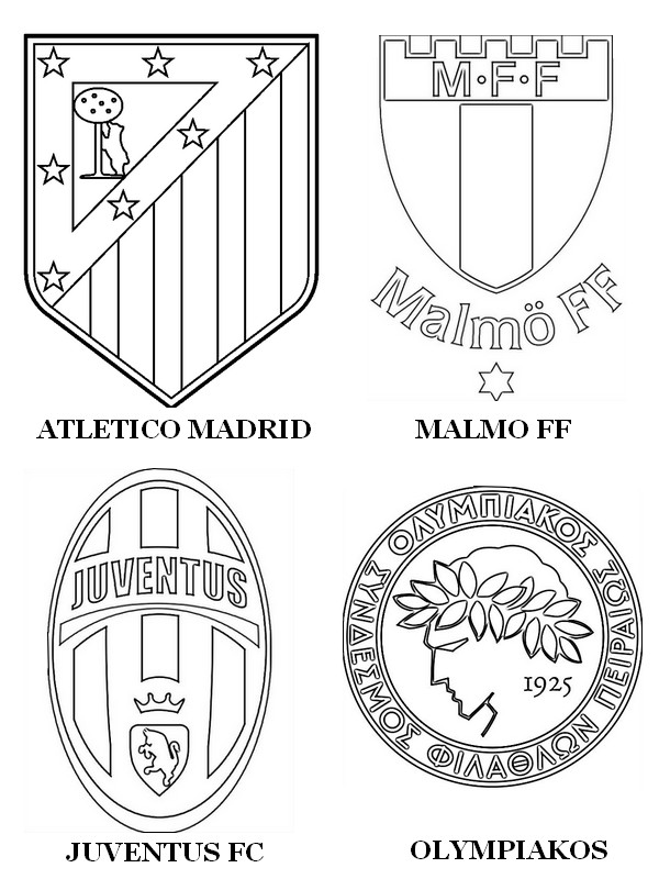 Super Coloring page UEFA Champions League 2015 : Group A: Atlético  AO23