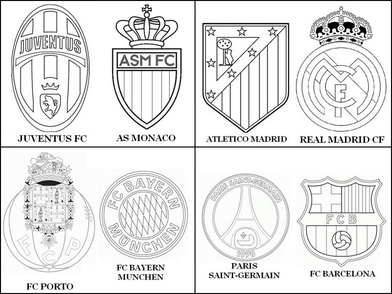 Dibujo para colorear UEFA Champions League 2015 : Cuartos de final 10