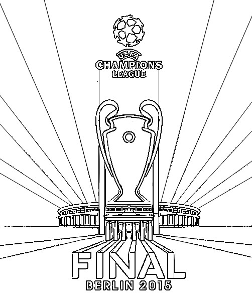 Coloring Pages UEFA Champions League 2015 Drawing