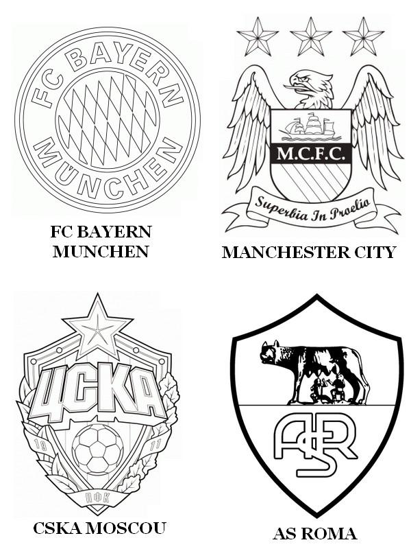 Desenho Para Colorir Uefa Champions League 2015 Grupo E
