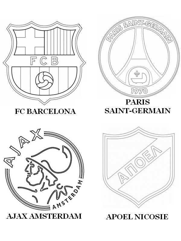 Super Coloring Pages UEFA Champions League 2015 Drawing AO23