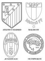Dibujo para colorear Grupo A: Atlético Madrid - Juventus FC - Olympiakos - Malmö FF