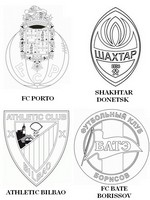 Coloring page Group H: FC Porto - Shakhtar Donetsk - Athletic Bilbao - FC Bate Borissov