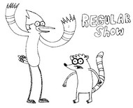 Coloring page Regular show