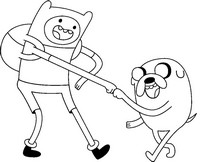 Disegno da colorare Adventure time