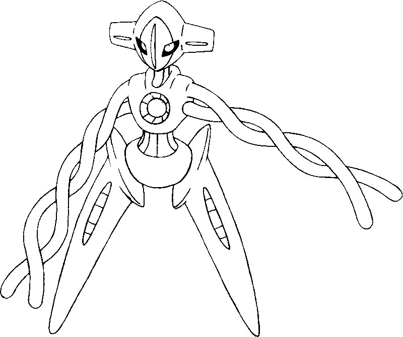 coloring page pokmon alternate form 386 deoxys
