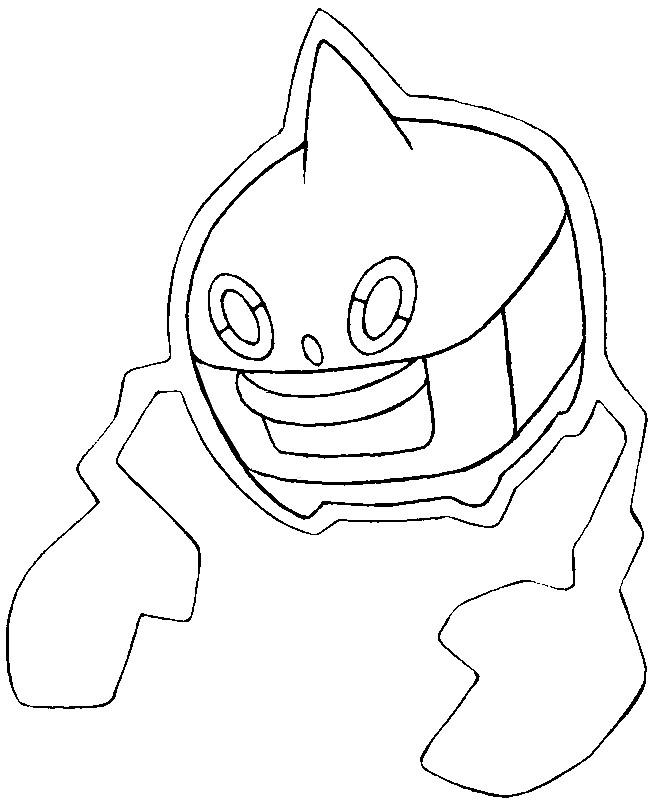 Coloring Page Pokemon Alternate Forms Pokemon Alternate Form 479 Rotom Heat 1