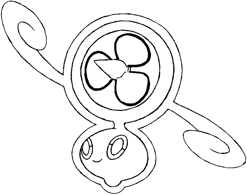 coloring page pokmon alternate form 479 rotom spin