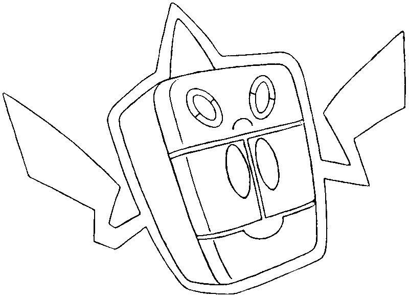 rotom coloring pages - dibujo para colorear pokemon formas alternativas pok mon