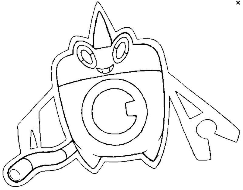 Coloring Page Pokmon Alternate Form 479 Rotom Wash