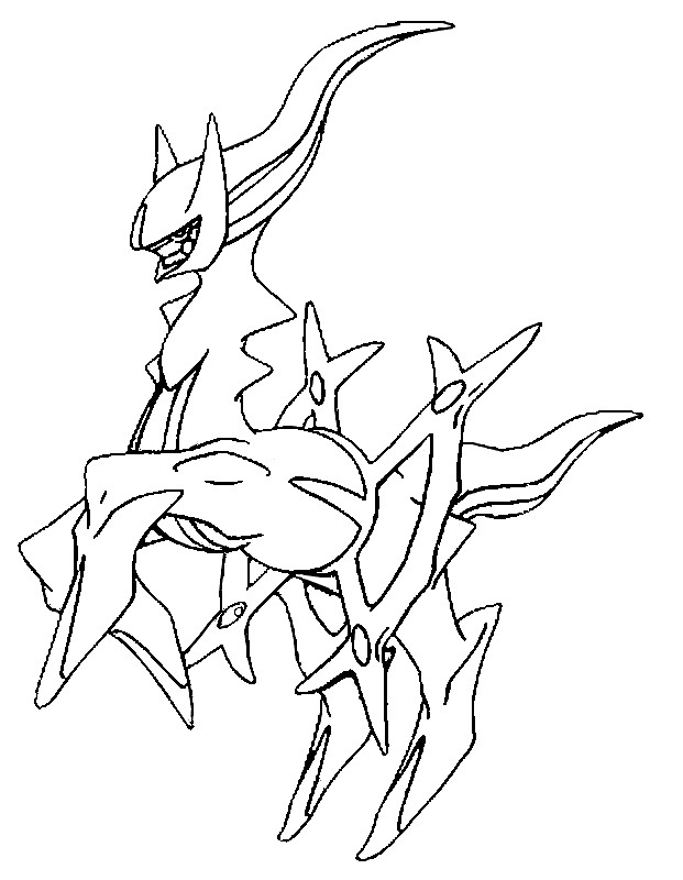 coloring page pokmon alternate form 493 arceus