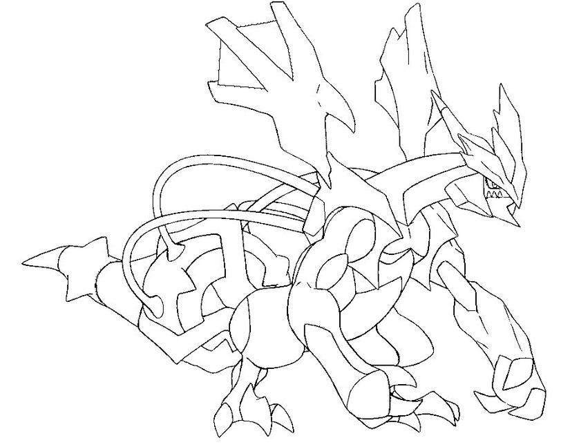 Coloring Page Pokmon Alternate Form 646 Kyurem Black