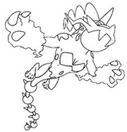 Dibujo para colorear Pokémon forma alternativa 642 Thundurus
