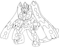 Coloring Page Pokmon Alternate Form 718 Zygarde Complete 100