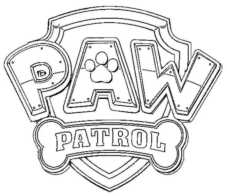 malvorlagen paw patrol  logo paw patrol 1