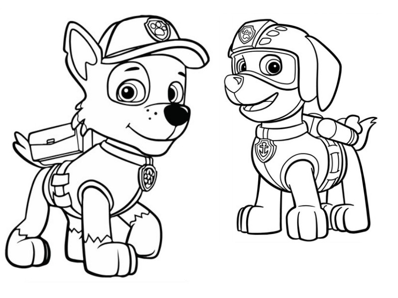 Coloring Page Paw Patrol : Zuma And Rocky 4