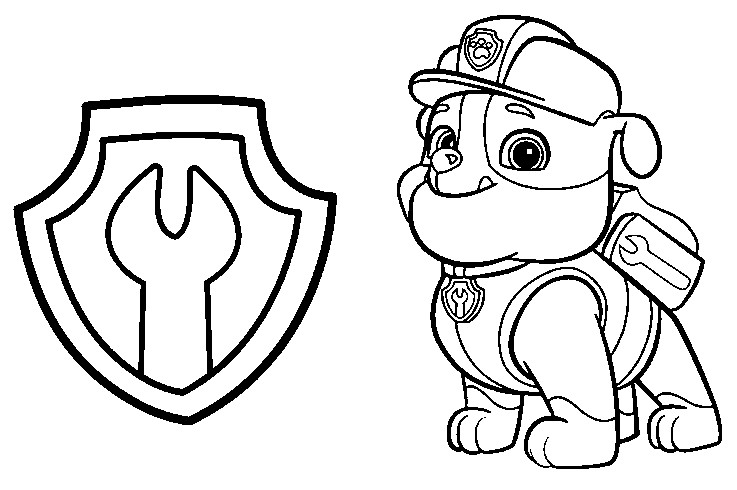 Printable Coloring Pages Of Paw Patrol : Paw patrol badges colouring pages