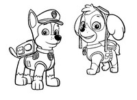 coloring page stella and chase