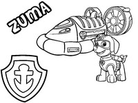Coloring Pages Paw Patrol Morning Kids
