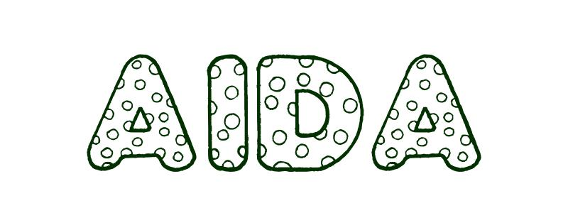 Coloring-Page-First-Name Aida