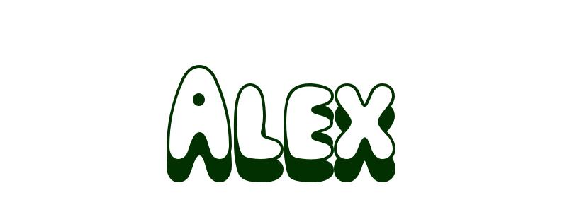 Coloring Page First Name Alex