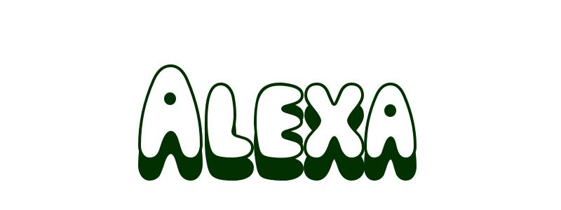 Coloring-Page-First-Name Alexa
