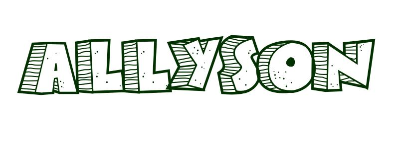Coloring-Page-First-Name Allyson