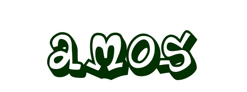 Coloring-Page-First-Name Amos
